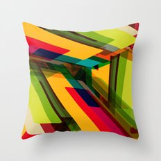 Field of Colors Throw Pillow