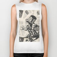 mad hatter Biker Tanks featuring Mad Hatter by Jordan Renae Arp