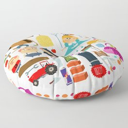 Alice in wonderland + Three Little Pigs aka ALIPIGS Floor Pillow