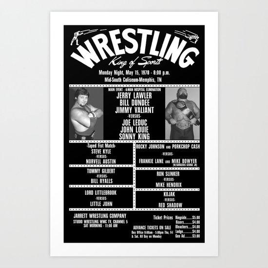 #7-B Memphis Wrestling Window Card Art Print