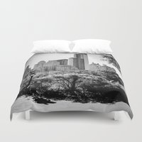 central park Duvet Covers featuring Central Park by Petra Heitler
