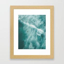 Surfer Surfing Bondi Beach Framed Art Print