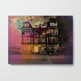 Edinburgh Tenement Idealised Metal Print