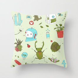 IWA CHAN Throw Pillow