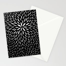 black and white abstract swirl drops pattern Stationery Cards