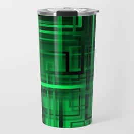 Black and green abstract Travel Mug
