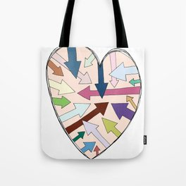 Which Way To Your Heart? Tote Bag