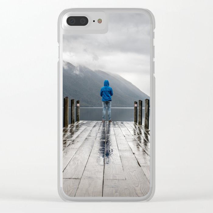Living on the Edge Clear iPhone Case