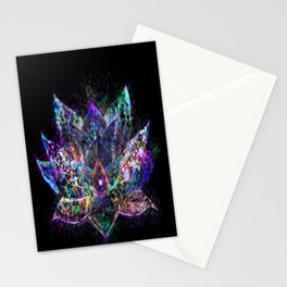 Lotus Flower Glow Stationery Cards