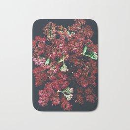Burgundy Sedum Flowers Bath Mat