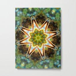 Flower Tree Mandela Metal Print