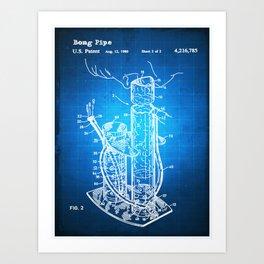 Bong Patent Blueprint Drawing Art Print