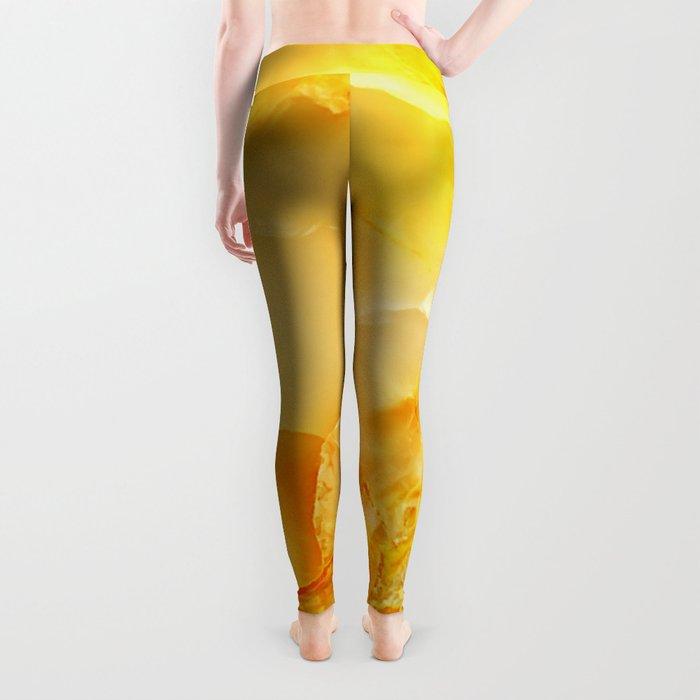Yellow onyx marble Leggings