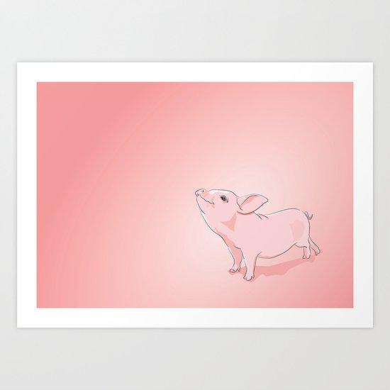 Little Pig Art Print