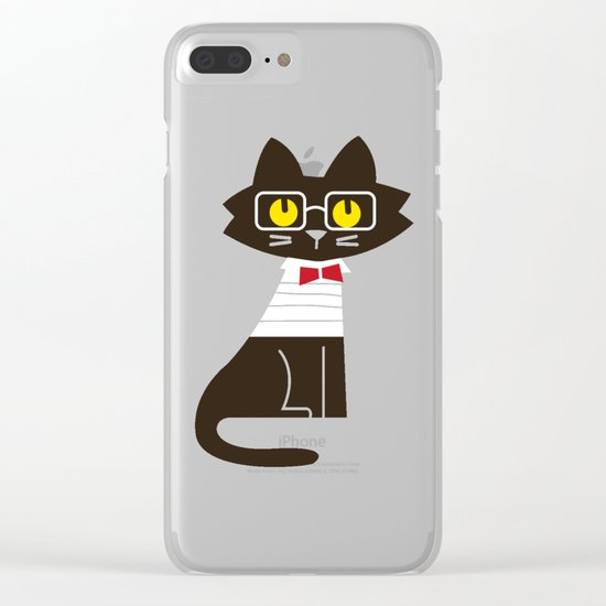 Fitz - Preppy cat Clear iPhone Case