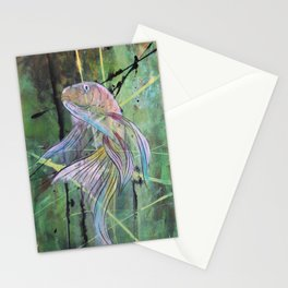 Green and Copper Koi 1 Stationery Cards