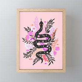 cosmic snake Framed Mini Art Print