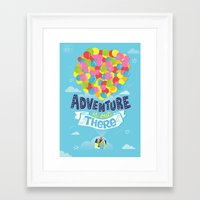 risa rodil Framed Art Prints featuring Adventure is out there by Risa Rodil