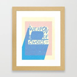 Weapon of Choice - Sewing Machine Framed Art Print