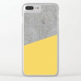 Concrete and primrose yellow color Clear iPhone Case