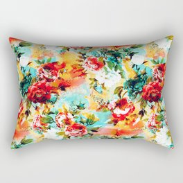 Floral Camouflage Rectangular Pillow