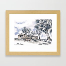 Rustic Bush Shack Framed Art Print