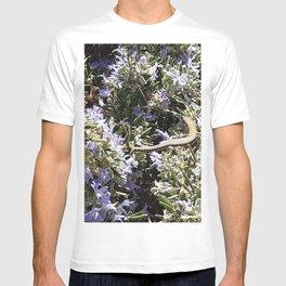 Lizard and Bee in rosemary bush T-shirt