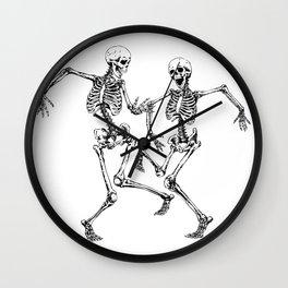 Dancing Skeleton Couple Wall Clock
