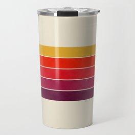 vhs video cassette retro stripes Travel Mug
