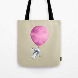 Penguin fly with Balloon Tote Bag