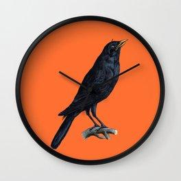 Vintage Raven Wall Clock