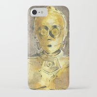 c3po iPhone & iPod Cases featuring C3PO by Johannes Vick