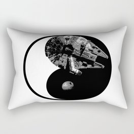 Millennium Falcon / Death Star Yin Yang Symbol Rectangular Pillow