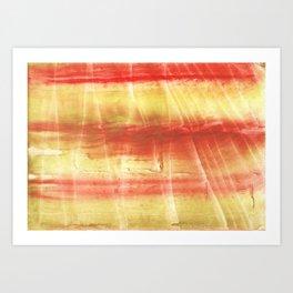 Red yellow Art Print