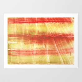 Red yellow Art Print