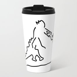 fire vomits dragon from the fairy tale Travel Mug