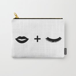 Lips + Lashes Carry-All Pouch