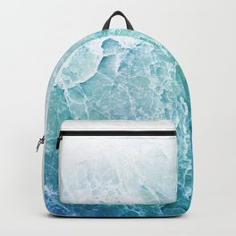Sea Dream Marble - Aqua and blues Backpack