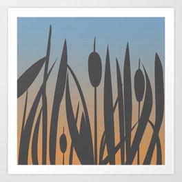 Reed Bush Art Print
