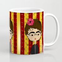 potter Mugs featuring Frida Potter by Camila Oliveira