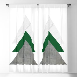 Marble Green Concrete Arrows Collage Blackout Curtain