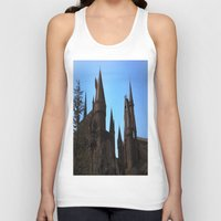hogwarts Tank Tops featuring Hogwarts by Blue Lightning Creative