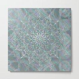 Iridescent Mandala Metal Print