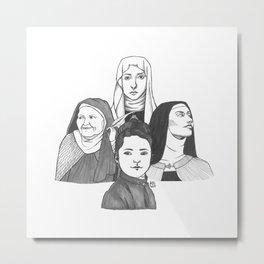Women Doctors of the Church Metal Print