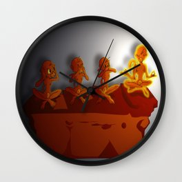 All No Evil Wall Clock