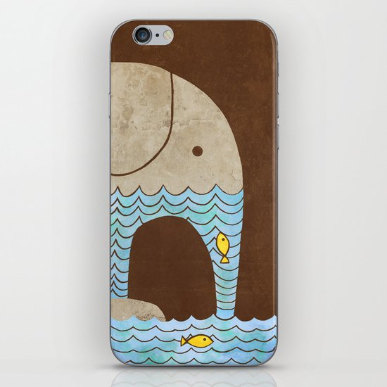 Thirsty Elephant - colour option iPhone & iPod Skin