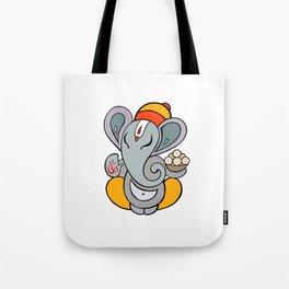 Hindu God Ganapati (Ganesha). Hand drawn illustration. Tote Bag