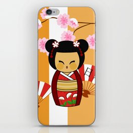 Kokeshi Ai  iPhone Skin