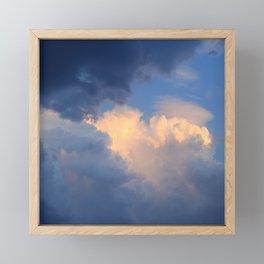 Before storm Framed Mini Art Print