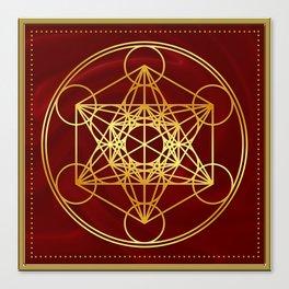 Metatrons Cube, Flower of life, Sacred Geometry Canvas Print